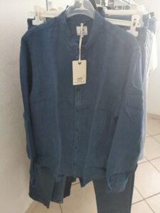 camicia color blu henry cottons