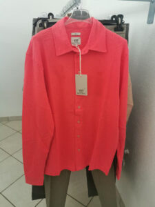 camicia rossa henry cottons