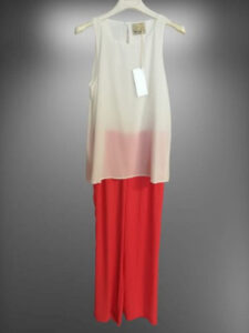 completo verysimple bianco rosso